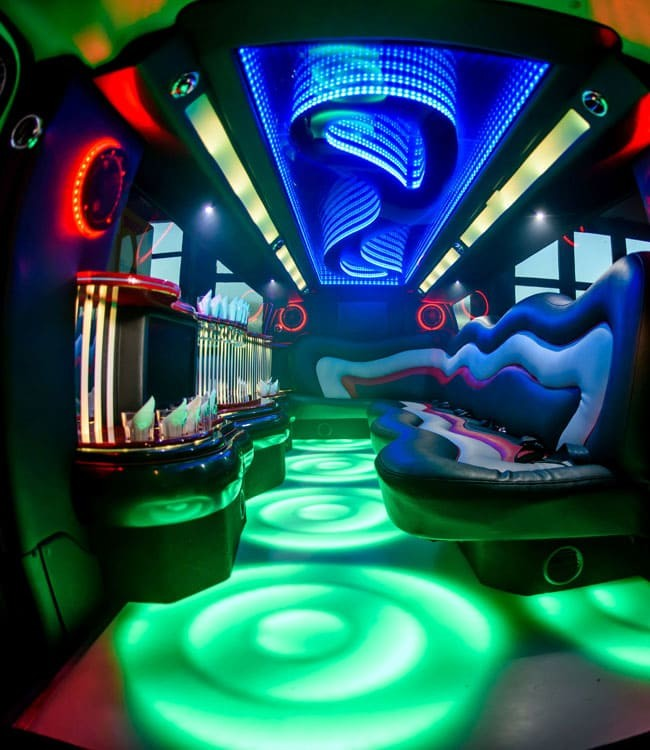 Innenraum 2 Hummer Stretchlimousine Deluxe